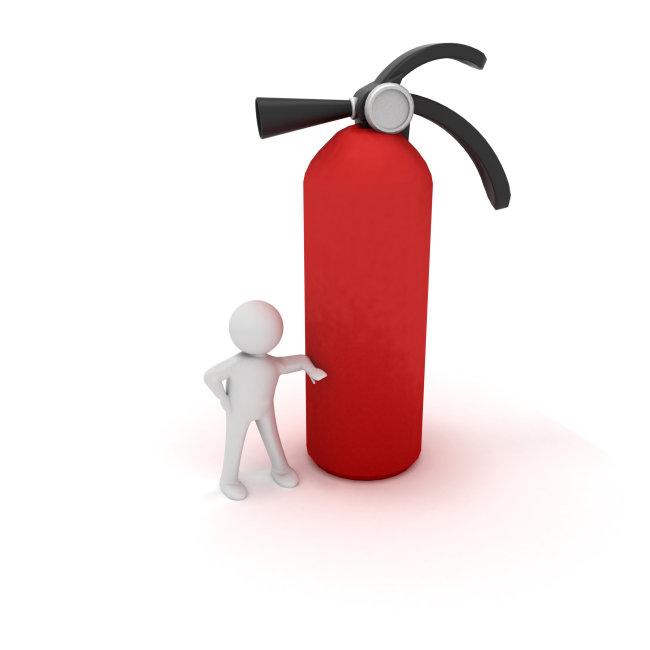 3d 3d小人 灭火器 安全 火灾 灭火 防范 保护 高清图片 图片 素材