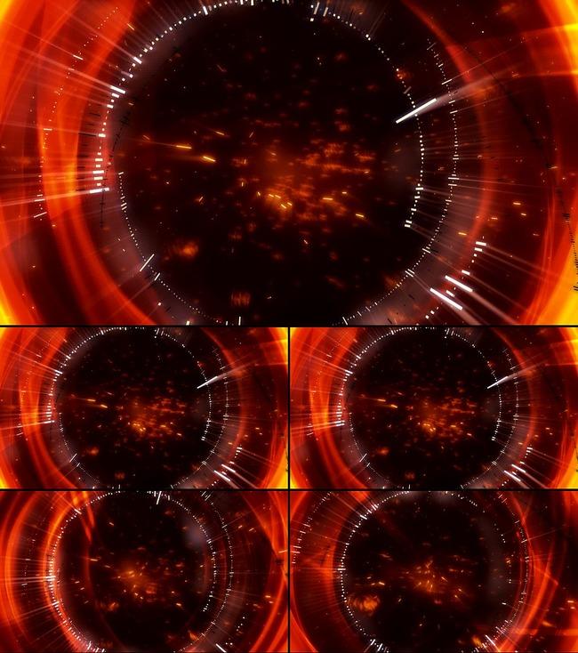 【无】红色瞳孔led动态背景素材