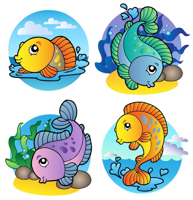 卡通热带鱼简笔画 儿童画热带鱼 说明:彩绘鲤鱼卡通鲤鱼类美丽的海洋