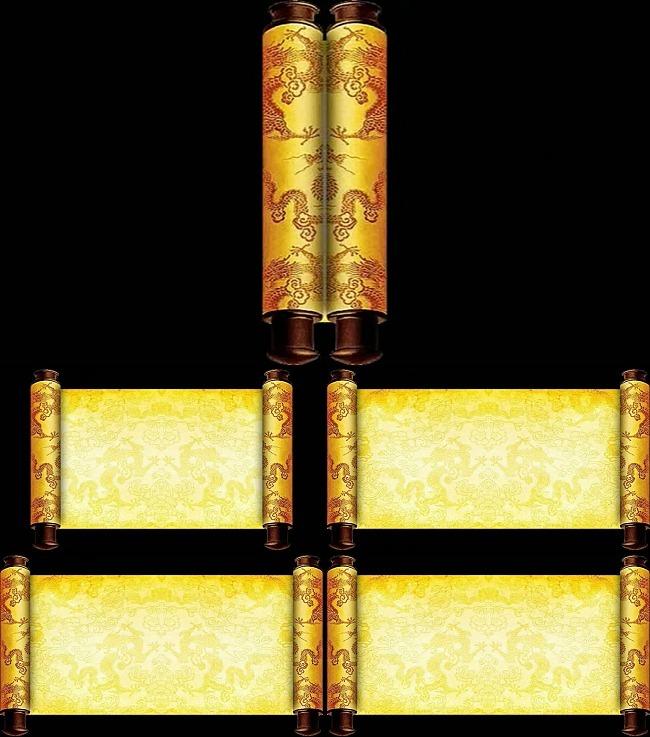 【avi】金色皇榜卷轴展开背景素材_图片编号:wli_动态