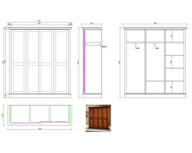 衣柜推拉门 手绘设计图