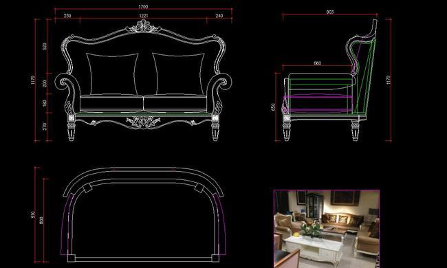 【dwg】欧式家具图纸欧式新古典家具图纸