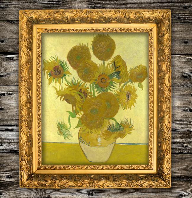 梵高油画向日葵图片下载 向日葵 葵花 文森特 梵高 世界名画 油画